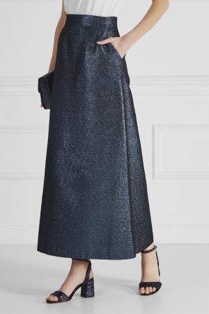 Хлопковая юбка Alexander Terekhov. Цвет: синий