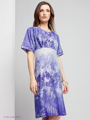 Платье Capriz. Цвет: фиолетовый, серый меланж