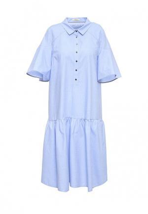 Платье Ecapsule. Цвет: голубой