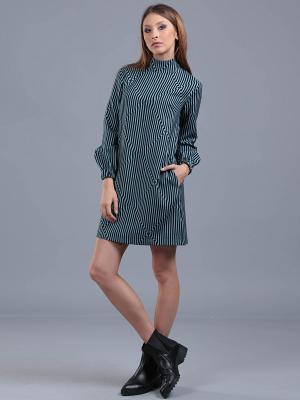 Платье ЭНСО. Цвет: бирюзовый