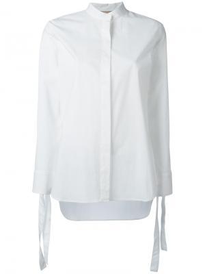 Классическая рубашка Erika Cavallini. Цвет: белый