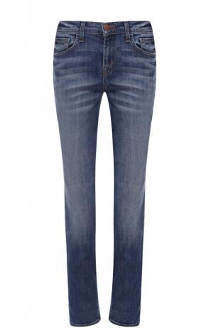 Укороченные джинсы прямого кроя J Brand. Цвет: синий