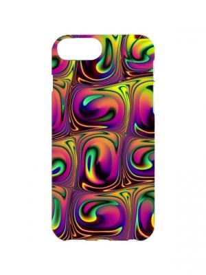 Чехол для iPhone 7Plus Жидкий металл Арт. 7Plus-189 Chocopony. Цвет: фиолетовый, желтый