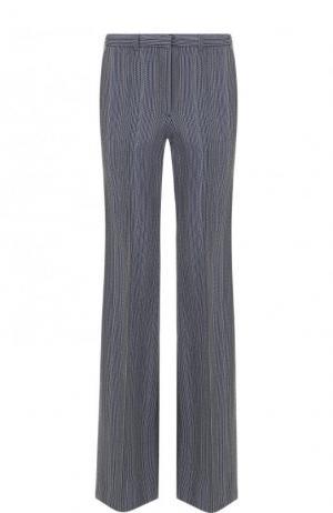Расклешенные брюки из шерсти с карманами Theory. Цвет: синий
