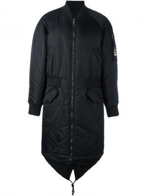 Пальто на молнии D.Gnak. Цвет: чёрный