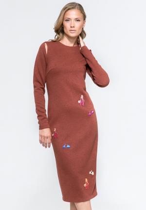 Платье YuliaSway Yulia'Sway. Цвет: коричневый