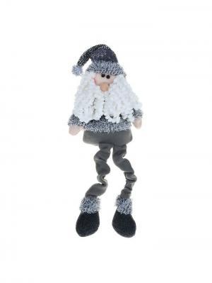 Мягкая игрушка Дед Мороз в сером костюме, 40 см А М Дизайн. Цвет: серый, молочный, антрацитовый