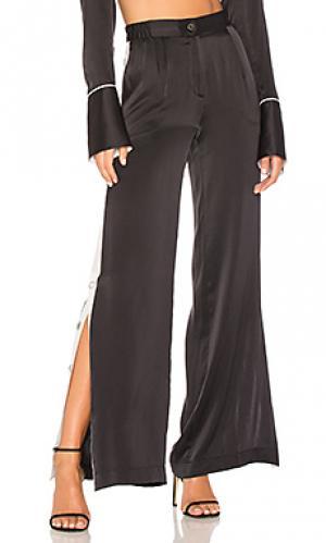 Широкие брюки arwen Equipment. Цвет: черный
