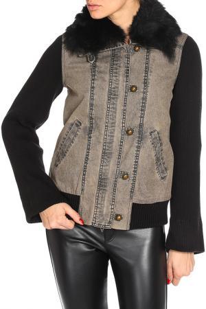 Куртка Plein Sud Jeans. Цвет: серый, рукава черные