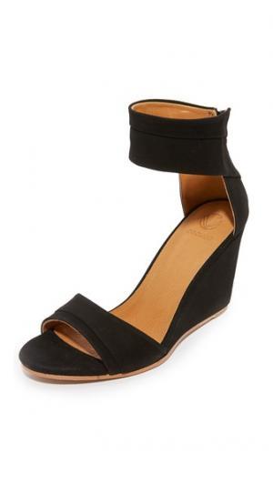Сандалии на танкетке Jal Coclico Shoes. Цвет: голубой