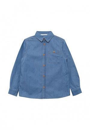 Рубашка джинсовая Button Blue. Цвет: синий