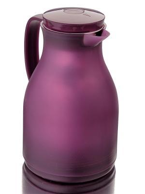 Термокувшин со стеклянной колбой 1,0 Л Augustin Welz. Цвет: фиолетовый