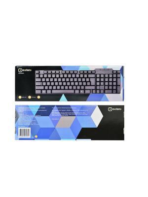 Клавиатура OXION Проводная, черная, 104кн., USB (OKB006BK)(20). Цвет: черный