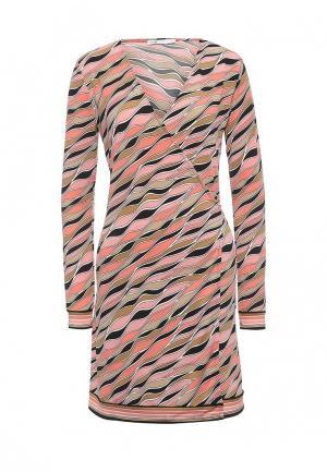 Платье oodji. Цвет: коралловый