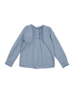 Блузка LE PETIT COCO. Цвет: синий
