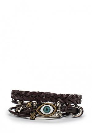 Комплект браслетов Joubeejou. Цвет: коричневый