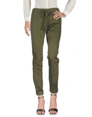 Повседневные брюки HAPPINESS. Цвет: зеленый-милитари