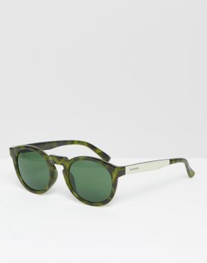 Mr Boho Зеленые солнцезащитные очки Mr. Jordaan. Цвет: зеленый