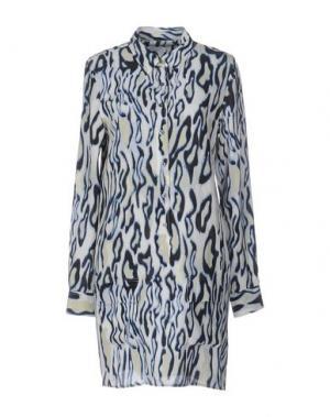 Короткое платье EQUIPMENT FEMME. Цвет: слоновая кость