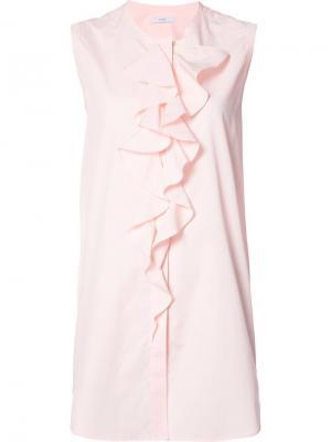 Рубашка Sleeveless Open Back Tie Tome. Цвет: розовый и фиолетовый