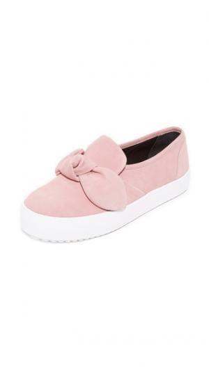 Замшевые кроссовки Stacey Rebecca Minkoff. Цвет: бледно-розовый