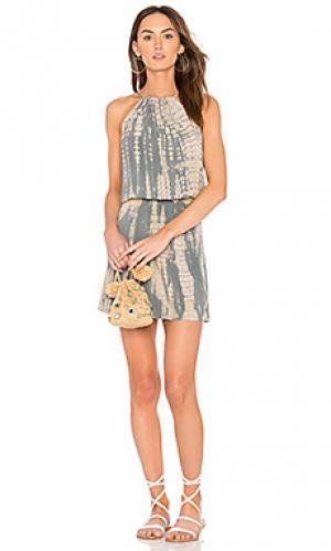 Платье холтер naomi Michael Stars. Цвет: серый