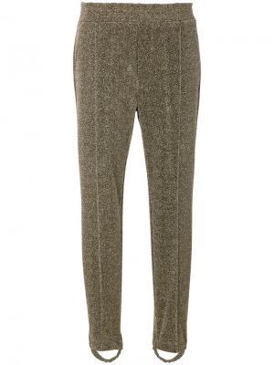Блестящие брюки Golden Goose Deluxe Brand. Цвет: металлический