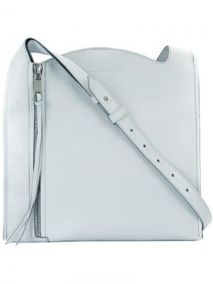 Квадратная сумка на плечо Elena Ghisellini. Цвет: серый