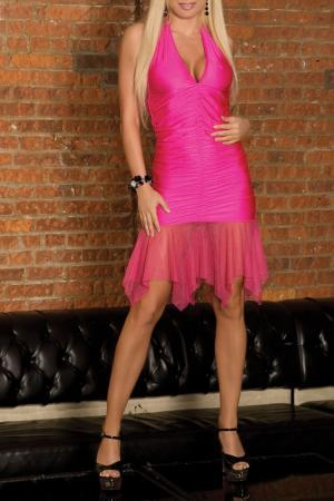 Клубное платье Electric Lingerie. Цвет: розовый