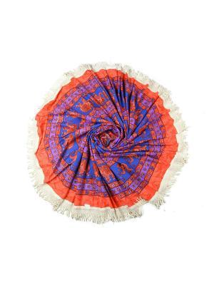 Покрывало круглое диаметр 220 см ETHNIC CHIC. Цвет: розовый