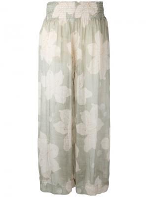 Floral print trousers Forte. Цвет: телесный