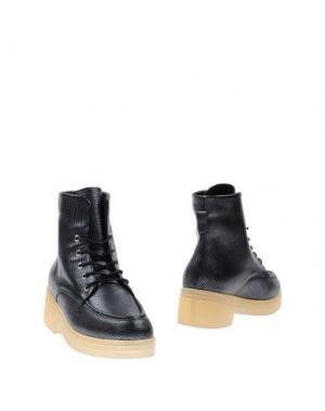 Полусапоги и высокие ботинки F-TROUPE. Цвет: свинцово-серый