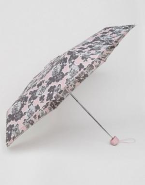 Totes Миниатюрный зонт с принтом роз. Цвет: розовый