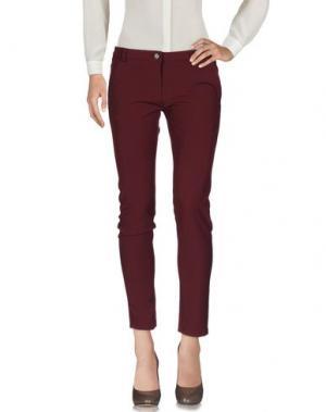 Повседневные брюки PLEASE. Цвет: баклажанный