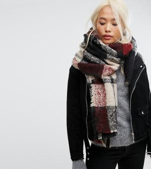 Stitch & Pieces Оверсайз-шарф в клетку. Цвет: мульти