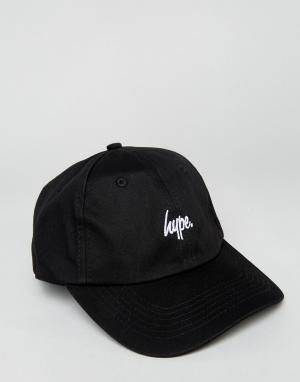 Hype Черная бейсболка с логотипом. Цвет: черный