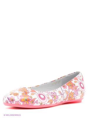 Балетки ELEGAMI. Цвет: розовый, белый, сиреневый