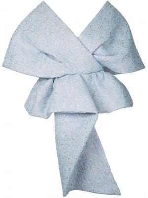 Блузка-шаль Delpozo. Цвет: синий