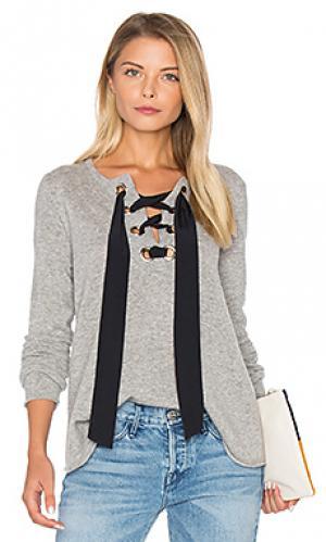 Расклешенный свитер на шнуровке Autumn Cashmere. Цвет: серый