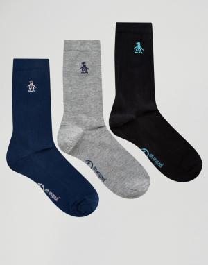 Penguin Набор из 3 пар носков. Цвет: черный