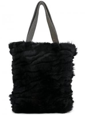 Мини-сумка-шоппер Laura B. Цвет: чёрный