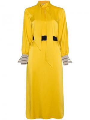 Платье миди Abito Fendi. Цвет: жёлтый и оранжевый