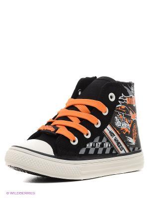 Кеды Kakadu. Цвет: черный, оранжевый