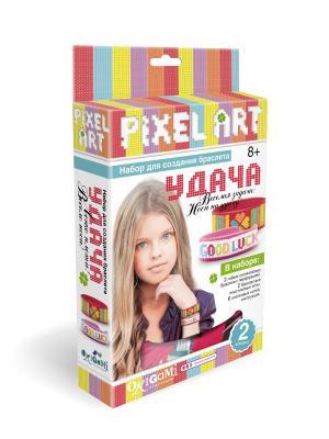 Origami. Набор для создания браслетов Удача в коробке, 2 браслета. Чудо-творчество. Цвет: бирюзовый, розовый, светло-желтый