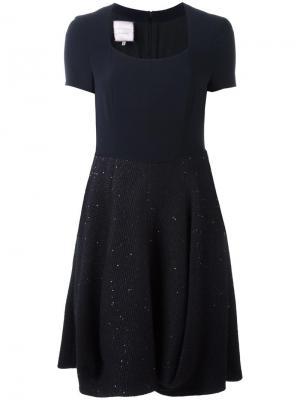 Платье Loukkos Talbot Runhof. Цвет: синий