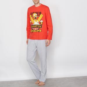 Пижама SIMPSONS. Цвет: серый меланж/красный