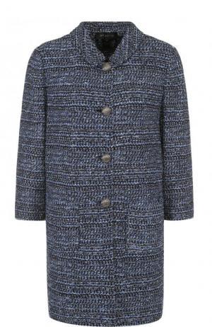 Буклированное пальто с укороченным рукавом и воротником-стойкой St. John K61P0B2