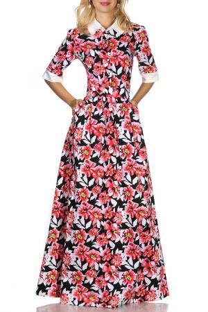 Платье Olivegrey. Цвет: черно-коралловый