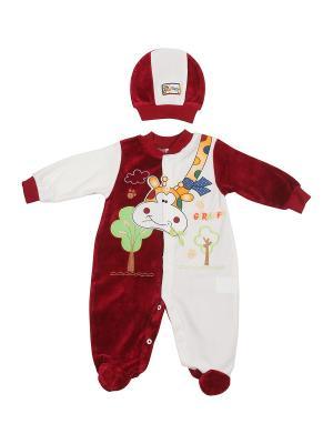 Комплект одежды M-BABY. Цвет: бордовый