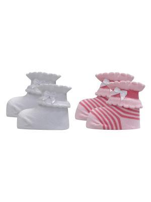 Носки Master Socks. Цвет: бледно-розовый, белый